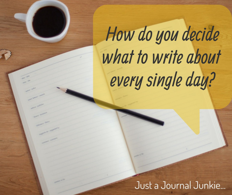 What to write about